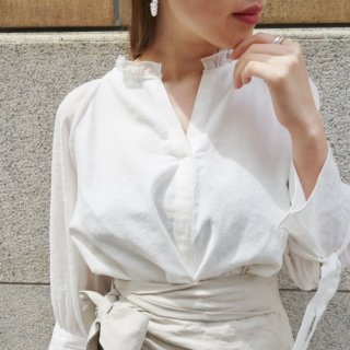 Linen blouse (WHITE)