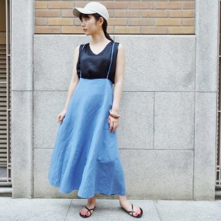 [予約] Back cross skirt (BLUE)