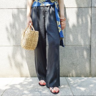 [即納] Relax wide pants (BLACK)