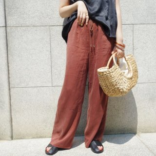 [即納] Relax wide pants (BROWN)