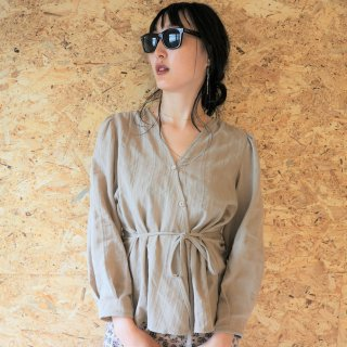 [即納] Cotton race blouse (BEIGE)