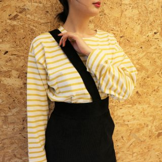 [即納] Loose border tops (M/YELLOW)