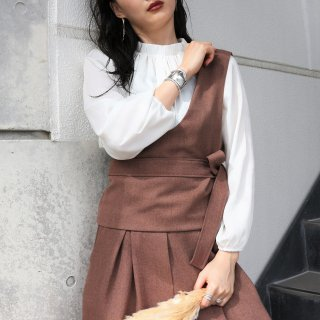 Oneshoulder bister (BROWN)