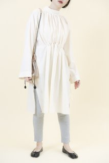 Gather shirts onepiece (IVORY)