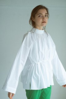 Roll collar shirts (IVORY)