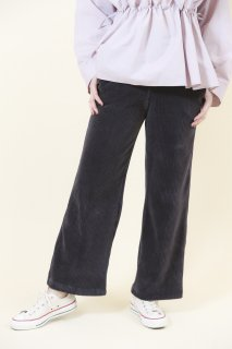 Corduroy wide pants (GRAY)