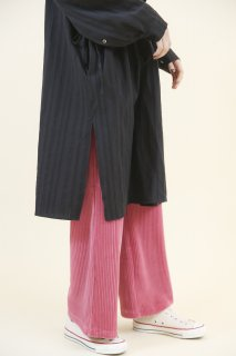Corduroy wide pants (PINK)