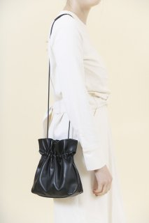 [予約] Leather mini bag (BLACK)
