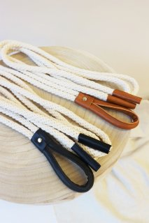 Rope leather belt