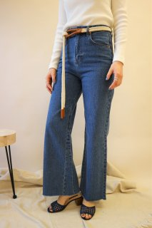 [予約] Highwaist wide denim (COBALT BLUE)
