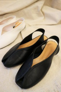 [予約] Leather stitch sandal (BLACK)