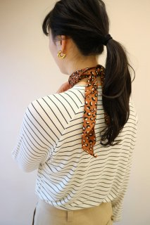 [予約] Leopard scarf (BROWN)