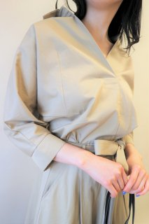 Vneck trench blouse