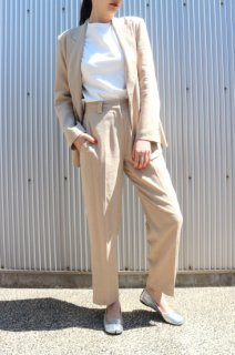 Tapered pants (BEIGE)