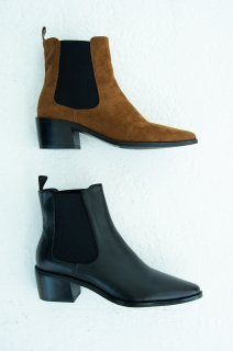 Side gore suede boots