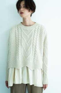 Cable layered knit