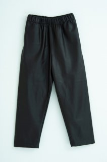 Fake leather tapered pants