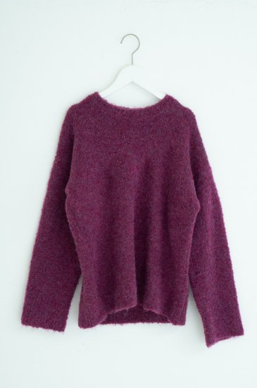 Wide color knit pullover