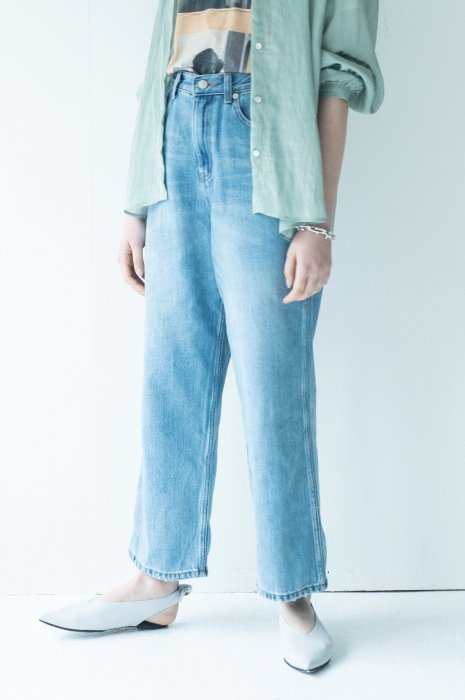 Loose wide denim
