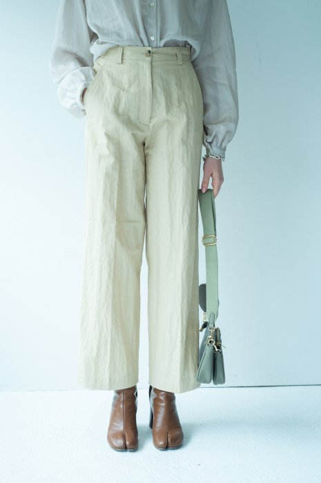Nylon trench pants