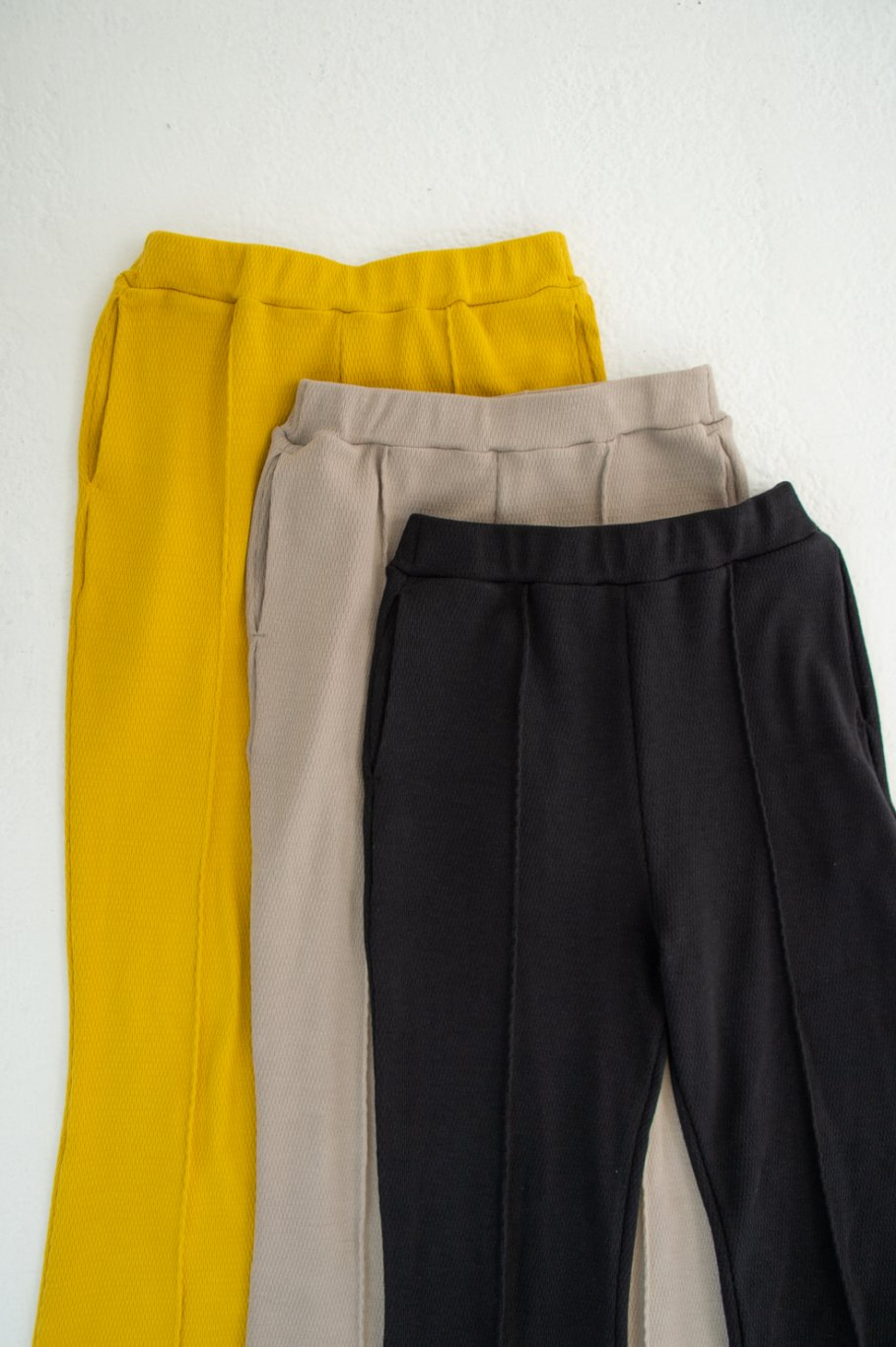 Thermal flare pants (YELLOW)