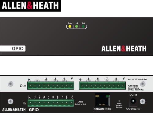 ALLEN & HEATH  ( アレンアンドヒース )  dLive用GPIOデバイス GPIO