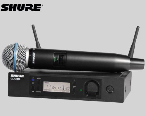 SHURE マイクロホン ワイヤレスセット 2.4GHz帯  GLX-D24R / BETA58