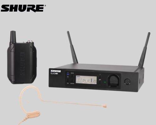 SHURE ヘッドウォーン ワイヤレスセット 2.4GHz帯  GLX-D14R / MX53