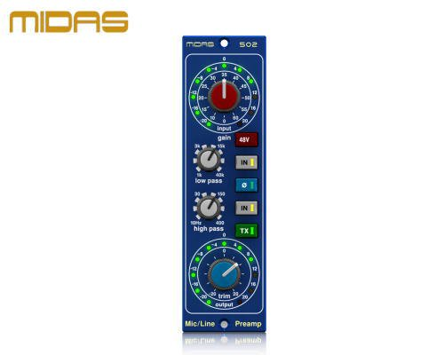 MIDAS(マイダス)マイクプリアンプ MICROPHONE PREAMPLIFIER 502 V2