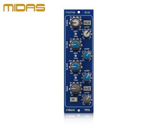 MIDAS(マイダス)パラメトリックイコライザー PARAMETRIC EQUALISER 512