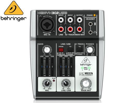 BEHRINGER(ベリンガー)アナログミキサー(2ch) 302USB XENYX