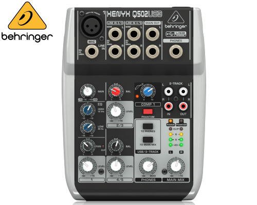 BEHRINGER(ベリンガー)アナログミキサー(5ch) Q502USB XENYX