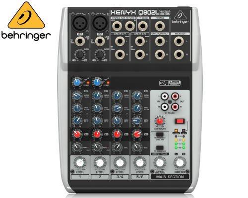 BEHRINGER(ベリンガー)アナログミキサー(6ch) Q802USB XENYX