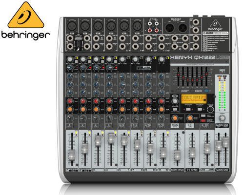 BEHRINGER(ベリンガー)アナログミキサー(12ch) QX1222USB XENYX
