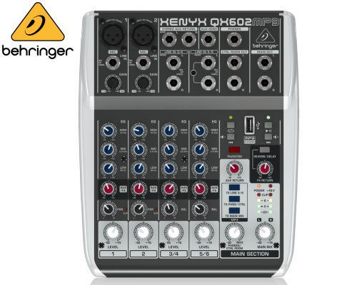 BEHRINGER(ベリンガー)アナログミキサー(6ch) QX602MP3 XENYX