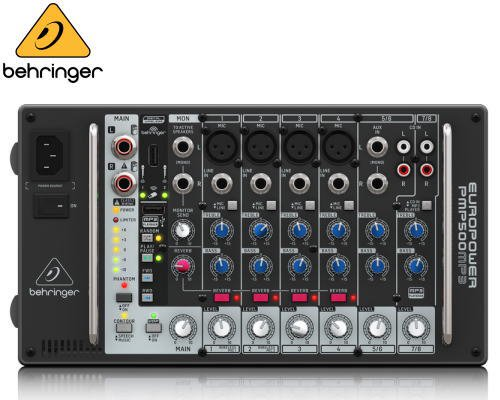 BEHRINGER(ベリンガー)8chステレオパワード・ミキサー PMP500MP3 EUROPOWER