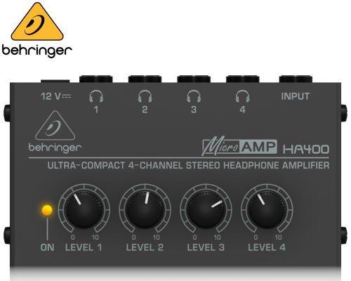 BEHRINGER(ベリンガー)ヘッドホンアンプ HA400 MICROAMP