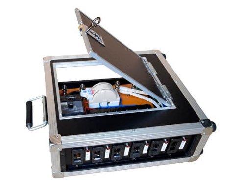 仮設分電ボックス CB-602C(カムロックE1015入力仕様・アース部分ネジ端子/Cコンボックス)