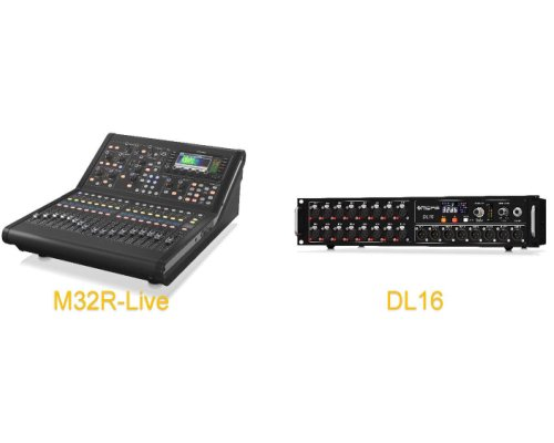 ★数量限定特価★MIDAS(マイダス) デジタルミキサー M32R-LIVE + ステージボックス DL16 バンドルセット
