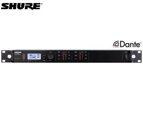 SHURE ダイバーシティ受信機 2チャンネルモデル/Dante対応 1.2GHz帯 ULXD4D-Z16