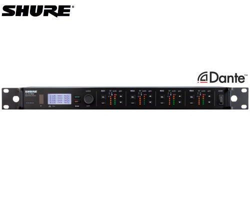 SHURE ダイバーシティ受信機 4チャンネルモデル/Dante対応 1.2GHz帯 ULXD4Q-Z16