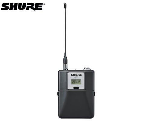 SHURE ボディーパック型送信機 1.2GHz帯 AD1-Z16(TA4Mコネクター)
