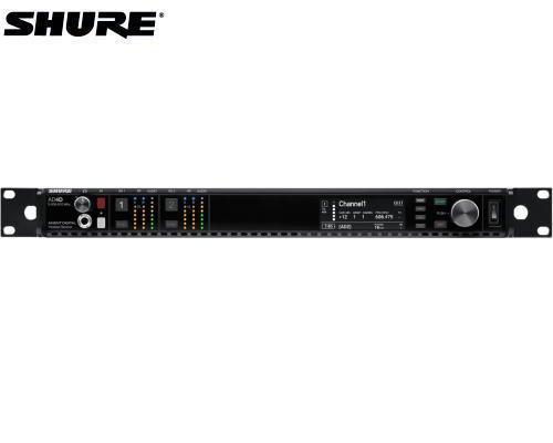 SHURE デジタルトゥルーダイバーシティ受信機 2チャンネルモデル 1.2GHz帯 AD4DJ-DC-Z16(DCリダンダント電源モジュール搭載モデル)
