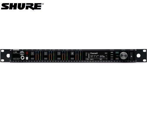 SHURE デジタルトゥルーダイバーシティ受信機 4チャンネルモデル 1.2GHz帯 AD4QJ-DC-Z16(DCリダンダント電源モジュール搭載モデル)