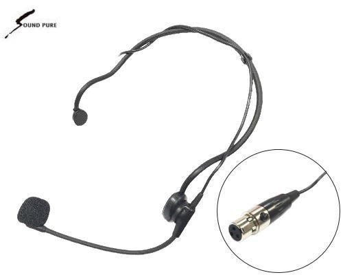 Soundpure(サウンドピュア) ボディパック型送信機8022e用 ヘッドウォーン・マイクロホン SPWEM-BK