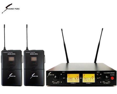 Soundpure(サウンドピュア) デュアルボディパック型送信機(のみ) ワイヤレスセット B帯 SPWH01-22e-2