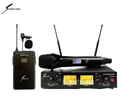 Soundpure(サウンドピュア) ボーカル・ラべリアマイクロホン コンボワイヤレスセット B帯 SPV8011s-PIN