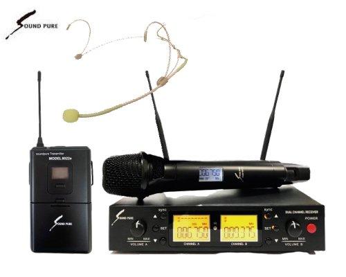 Soundpure(サウンドピュア) ボーカル・ラべリアマイクロホン コンボワイヤレスセット B帯 SPV8011s-WEMBE