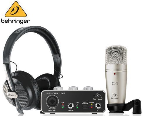 BEHRINGER(ベリンガー)録音/ポッドキャスティングバンドルセット U-PHORIA STUDIO