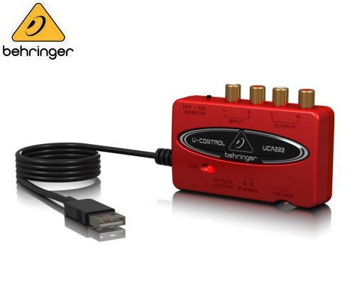 BEHRINGER(ベリンガー)USBオーディオインターフェース UCA222 U-CONTROL